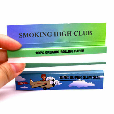 """CRO*SSTOWN 25 booklets 1.0"""" Unbleached Hemp Cigarette Rolling Papers 2500 leaves"""