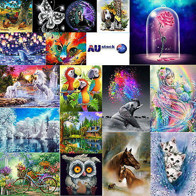 5D DIY Diamond Painting Embroidery Cross Craft Stitch Home Wall Art Decor +Tool