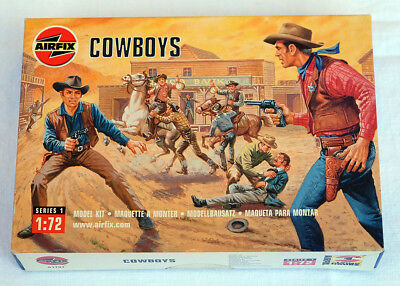 1:72 Cowboys Airfix 01707 am Gussast in OVP Wildwest