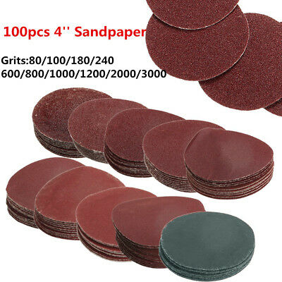 "100PCS 4"" Inch 100mm Mix Grit Sander Discs Sanding Pad Polishing Pad Sandpaper"