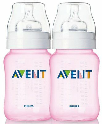 Avent Twin Bottle Pack 260ml Pink