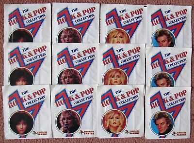 "1980  Panini  ""Rock & Pop Collection""  Cards:  12  SEALED PACKETS  + Free Post"
