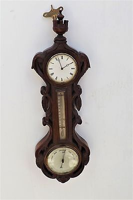 Wall Clock Barometer thermometer