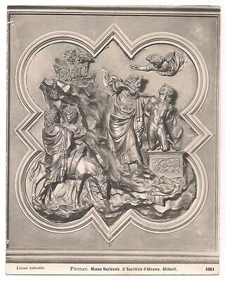 Original Vintage 1930s photo print Ghiberti Abraham Sacrifice, Florence Bargello