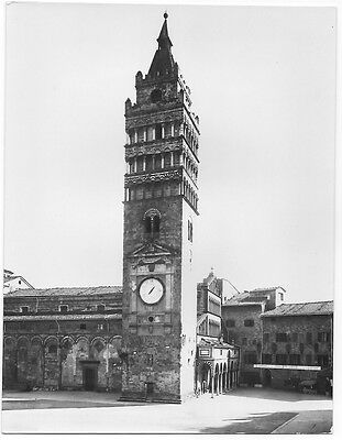 Original Vintage Alinari 1930s photo print Pistoia, Cathedral's Bell Tower