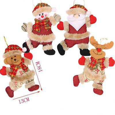 Merry Christmas Ornaments Santa Claus Snowman Tree Hanging Decorations Gift