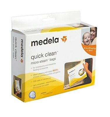 Medela Quick Clean Micro-Steam Bags (Five Pack) - FREE FAST SHIPPING