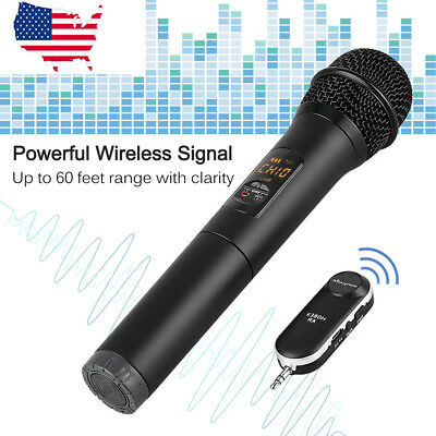 Wireless Bluetooth Karaoke Microphone Stereo Mic KTV USB Speaker Player Home KTV