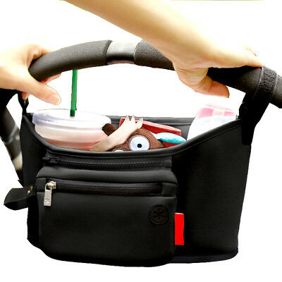 Universal Stroller Organizer with Removable Zipper Pouch Bag