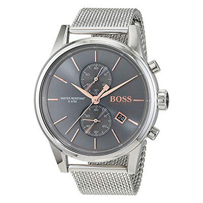 New Hugo Boss 1513440 Black Jet Chronograph Stainless Steel Dial Men's Watch