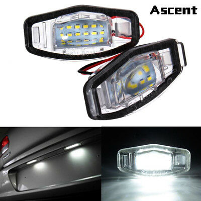 2x18 LED License Plate Light Direct Fit For Acura TSX TL MDX Honda Civic Accord