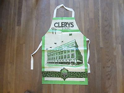 Clerys of Dublin Apron Ireland Famous Irish Department Store Souvenir Cotton