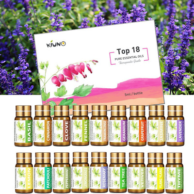 18 Set 100% Pure Natural Essential Oil Kit Aromatherapy Therapeutic Grade Lot AU