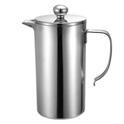 1000ml Double Wall Stainless Steel French Coffee Press Maker Anti Rust US