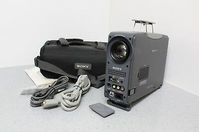 Sony CPJ-D500 LCD Projector Bundle Great Condition Lamp is Dim FREE SHIPPING