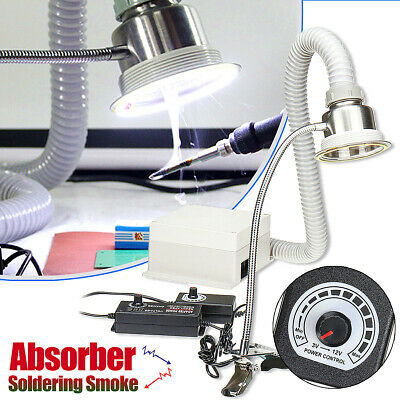 2 In 1 Soldering Smoke Absorber Remover Fume Extractor Air Fan Adjustable Speed