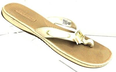 6831232a13 SPERRY TOP-SIDER Women s Serena White Leather Thong Sandals Shoe Size 10M