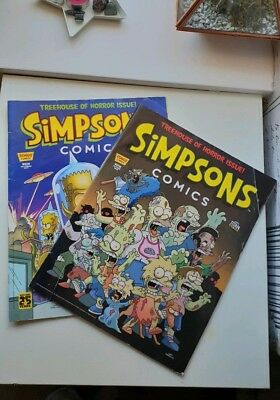 The simpsons comics Treehouse Of Horror Issue