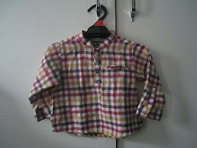 ZARA BABY boy checked shirt SIZE 00 (3-6 months, 68cm)