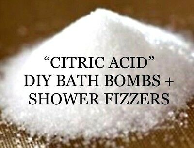 """🛁anhydrous """"citric Acid""""~Diy Bath Bombs/shower Fizzers + More (Gmo Free)~3 Size"""