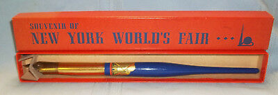 **vintage 1939 New York World's Fair Novelty Fountain Pen W/decal In Box-Ex.!**