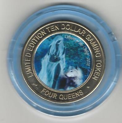 2018 FOUR QUEENS Blue Cap Lady Spirit of the Wolf $10 Silver Strike