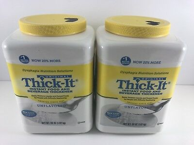 Lot of 2 Thick-It Instant Food & Beverage Thickener Unflavored 36 oz Sealed 2019