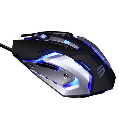 Wired Gaming mouse 6 Programmable Buttons 4 Adjustable DPI Levels 4 Circular