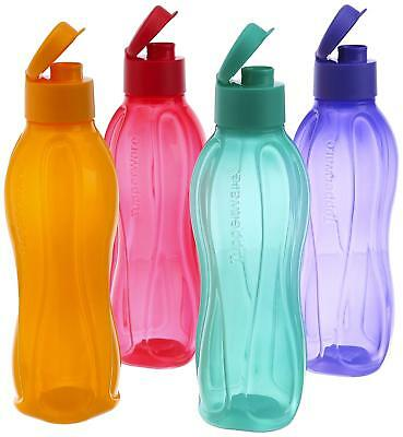 Tupperware Aqua Safe 750 ml Flip Top Water Bottles - New - Set of 4