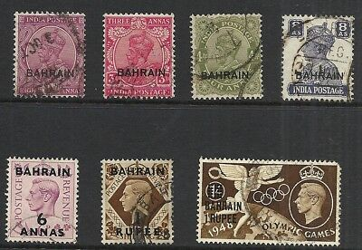 BAHRAIN   VARIOUS USED ISSUES  1933 to 1948