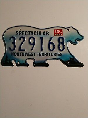 Northwest Territories Canada Bear License Plate