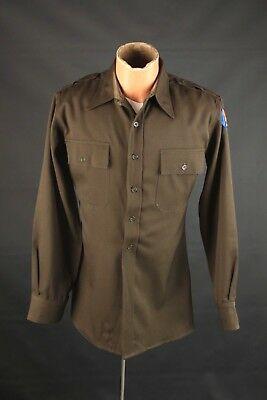 Vtg WWII 1940s US Army Air Force Officer's Wool Shirt sz S WW2 40s USAF #5440