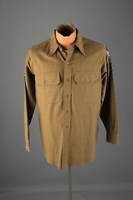 Vtg WWII 1940s US Army Air Force Wool Uniform Shirt sz M WW2 USAF 40s #5455