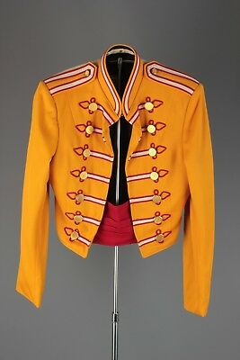 Vtg 1960s Marching Band Uniform Jacket sz Small 60s Brass Buttons #5469
