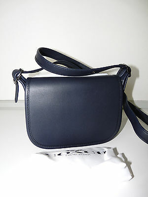 Coach SMALL1941 Navy Blue Leather Saddle Bag Shoulder Cross-body Bag 2105b4103b