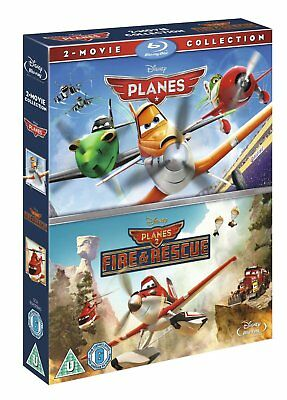PLANES 1 & 2 [Blu-ray Box Set] 2-Movie Collection Disney Pixar w/ Fire & Rescue