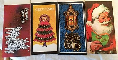 Vintage CHRISTMAS Paper Greeting Holiday Cards by Rhinehart in Box 16 Cards/6 en