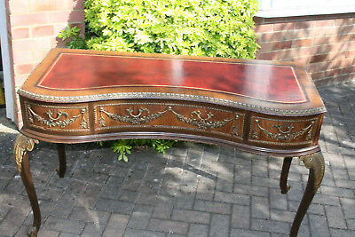 Reproduction Queen Anne style writing desk