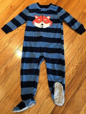 ead9da2f560f CARTERS 3T BOYS Footed Pajamas -  9.00