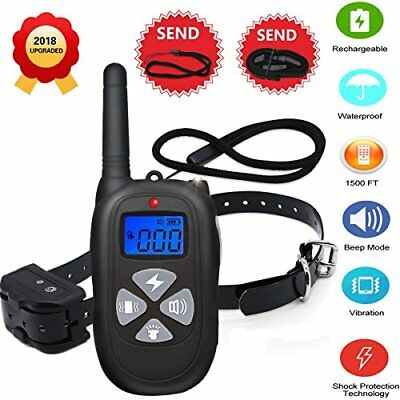 NEW2018 Remote Dog Training Collar 1450ft Waterproof and Rechargeable Electric