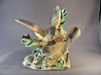 Vintage Porcelain Bisque Yellow Bird Finch Figurine Great Detail Made In Japan
