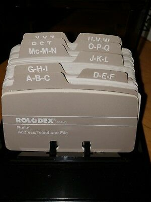 Vintage Rolodex S300C Petite Covered Card File With Cards unused