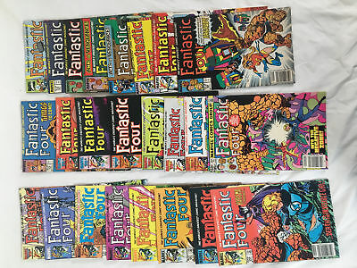 Lot Of 24 Issues Fantastic Four Comic Books, Marvel, Human Torch,