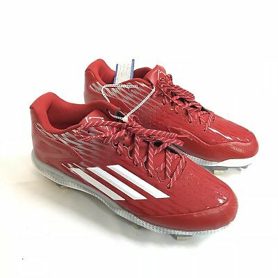quality design fb550 9c509 Adidas Men s Size 13 Metal Baseball Cleats Power Alley 3 Shoes Red White  S84749