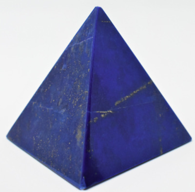 Lapis Lazuli Egyptian Pyramid Ancient Egypt Worship from Afghanistan - AREEAN