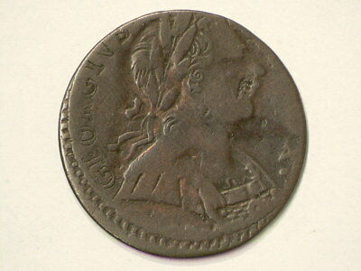 1775 Great Britain Bronze Farthing Copper Non Regal Contemporary  #911