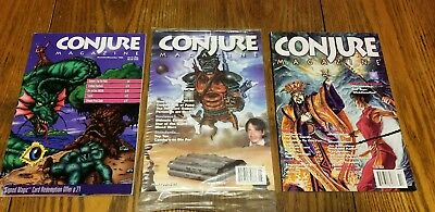 conjure magazine #1,4 and 7. rpg card gaming lot of 3.