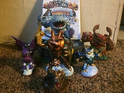 skylanders giants starter pack game, portal and extra characters wii *used*
