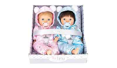 Chad Valley Tiny Treasures Twin Real life Baby Dolls Changing Bag Clothes