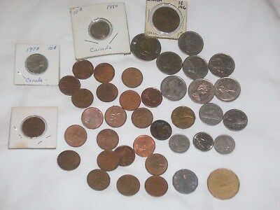Canada Coin Started Collection 42 coins Lot
